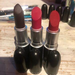 Lot of 3 MAC retro matte lipsticks